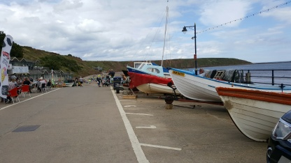 Fishing boats at Coble Landing, Filey