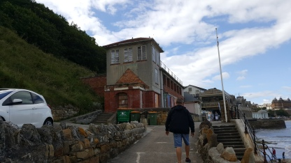 Old sea bathing building (bathers emerged straight down into the sea from here)