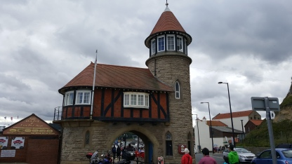 The remains of the toll road offices on Marine Drive, Scarborough