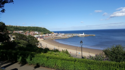 Overlooking Scarborough beach and harbour