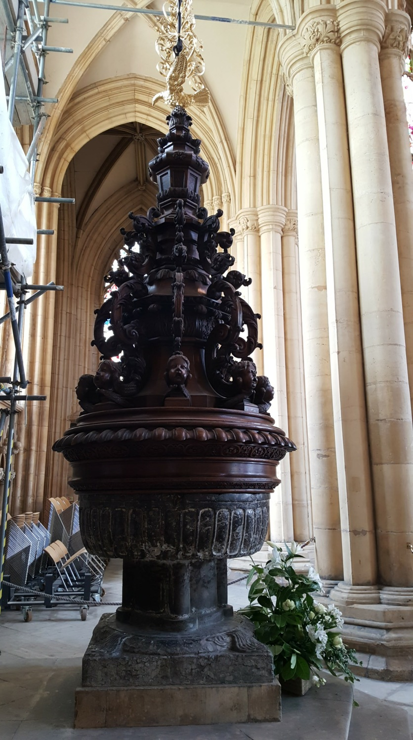 The 'Hanging' Font of Beverley Minster