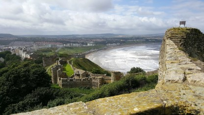 View over North Bay from Scarborough Castle