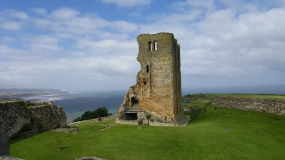 The remains of the keep at Scarborough Castle