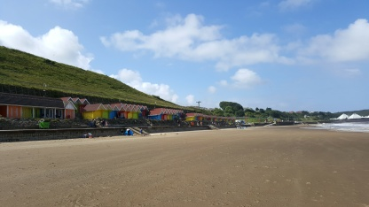 Beach huts at Scarborough North Bay