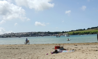 Looking over to Padstow from Rock Beach