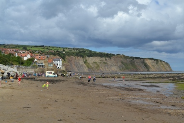 Looking back towards the village from the beach, Robin Hood's Bay
