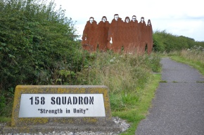 Memorial to 158 Squadron at Lisset
