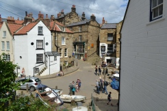 View from the old Coastguard station of the village, Robin Hood's Bay
