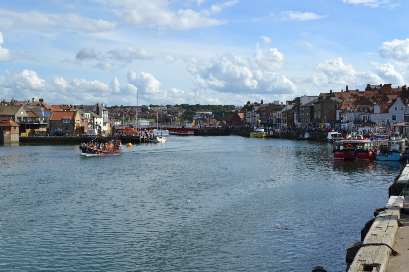 Looking inland along the harbour at Whitby
