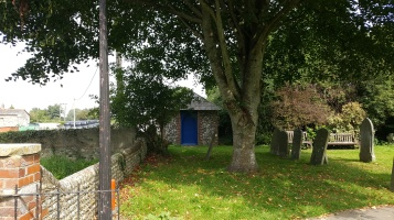 The watch hut in the graveyard of Warblington Church