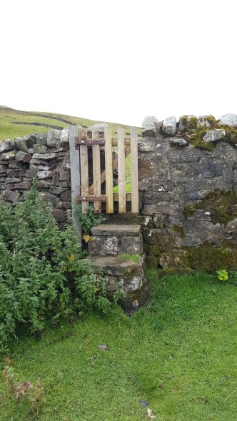 One of the disinctive stile gates on Buckden Pike
