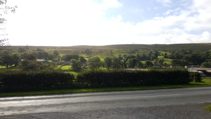 View from the main entrance to Street Head Caravan Park