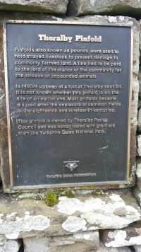 Explanation of the Pinfold at Thoralby