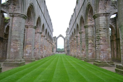 The church at Fountains Abbey