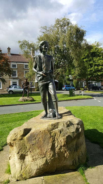 Statue of James Cook, aged 16