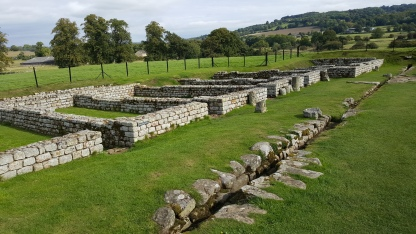 Barrack remains at Chesters Roman Fort