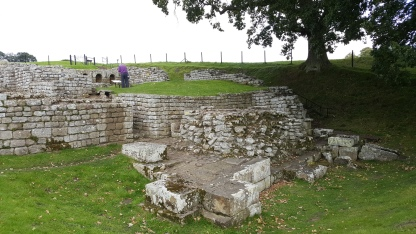Bathhouse remains at Chesters Roman Fort