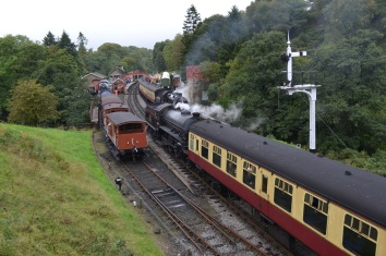 Steam trains at Goathland