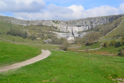 View of Malham Cove on the walk over