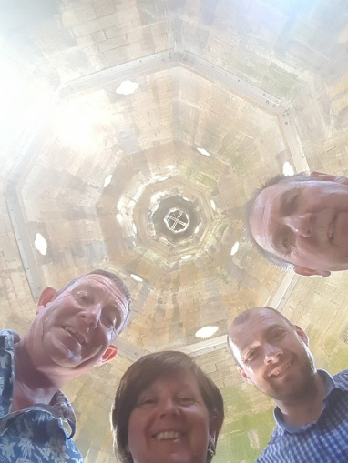 Inside the steeple at Caythorpe Church