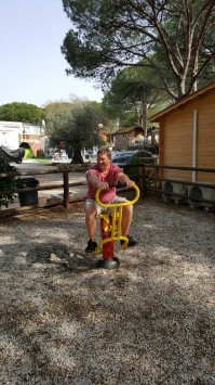 The outdoor gym at Cabopino