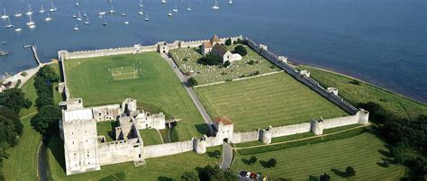 Portchester Castle from the Air