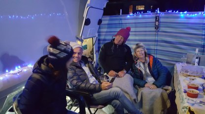 The woolly hats are out! NYE 2018