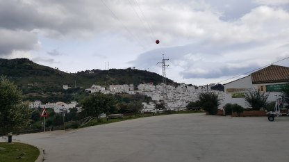 View of Casares from Motorhome parking area