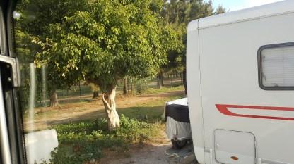 View from the van at Cala de Mijas