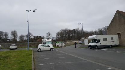 Parked up at Hermanville-sur-Mer