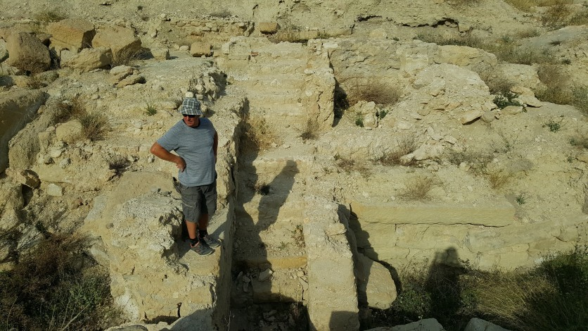 The ruins of the Roman baths at Banos de Fortuna